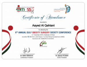 GOSS2019 Conference Certificate